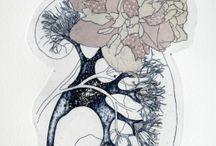 Jeanne Picq - organ(ik) / Etching