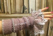 манжеты вязанные ручной работы
