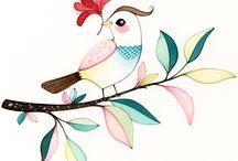 Bird art water colour
