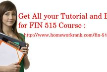 FIN 515 Study Material for Devry University