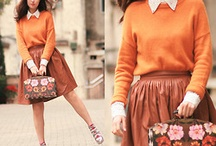 Style: orange shades / Things that inspire me to get dressed! In this board you will find inspiration on how to pair and style different shades of orange.