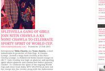 Event #SPLITSVILLA Gang of Girls #Nitinchawla #Cinema lounge. in Stylekandy