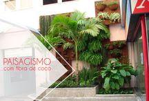 Paisagismo com Fibra de Coco / Fabricamos e comercializamos produtos decorativos e 100% ecológicos a partir da fibra do coco verde. #Paisagismo #FibradeCoco #CocoVerde #CocoVerdeReciclado #Reciclagem #Sustentabilidade #Aquarismo #Jardinagem