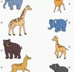 Animal matching workseets for preschool / İn this page you can find lots of free easy animal matching worksheets for kids,kindergarden and teachers.