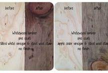 DIY vinegar wood stain