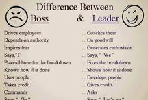 Leader vs Manager (boss)