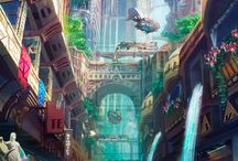 Fantasy Art, Concept Art, Animation, Surrealism & Future Architectural Design. / Various forms of animated art.