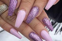 Фиолетовые блеск для ногтей