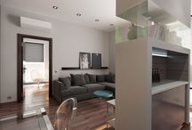 64m² 2-bedroom apartment / Contemporary style / AutoCAD / 3ds Max