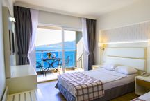 Hotel Rooms / Yunus Hotel gets together with you at the most beautiful area of Marmaris with the heavenly sea, beach and view.