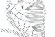 Paličkování- bobbin lace / krajka, nnávody, krajky, podvinky