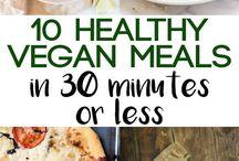Vegan meals and recipes