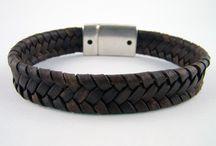 Bracelets de cuir plat, collection Style