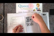 Queen B Creations - Video Tutorials / Lisa Ann Bernard of Queen B Creations is sharing her handmade hand stamped card making ideas and instructions and tutorials for various techniques and stamping methods.  These videos focus on Stampin' Up! products.