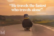 Travel Quotes - The best of / The best Travel Quotes from explorers, writers, famous people and other great minds. You can use these travel quotes to get inspiration for your next adventure and to remind yourself why experiencing new places is so important.