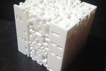 3DEDALUS / 3D print sculpture of a Daedalean labyrinth.  This cubic labyrinth is formed by stacking 25 QR codes tracing the path of Leopold Bloom, hero of James Joyce's Ulysses through the streets of Dublin.