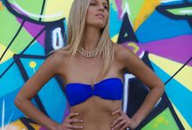 """The Art of Swimwear - Emma Jackson / """"The Art of swimwear"""" was shot at the iconic Bondi beach. We picked some of our favourite graffiti to shoot the awesome Emma Jackson of WINK models in front of.  Swimwear was by Born in Byron and the make-up was by Ess Elle."""