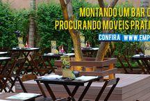 MÓVEIS BAR E RESTAURANTE / Moveis fixos e Dobráveis para bares, restaurates, lanchonetes, hoteis e pousadas