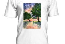My T-Shirts / T-Shirts with my paintings or photos and texts