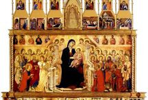 Duccio / Duccio di Buoninsegna (Italian c. 1255–1260) was an Italian painter, active in the city of Sienna in Tuscany, where he was born, in the late 13th and early 14th centuries. He is considered to be the father of Siennese painting and, along with a few others, the founder of Western art. Duccio is credited with creating the painting style of Trecento and the Sienese school, and contributed significantly to the Sienese Gothic style.