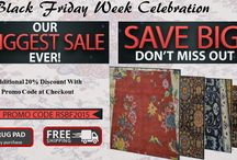 Black Friday Sale / Grab the opportunity and get extra 20% discount on every rug. Shop today.Free shipping delivery and get free rug pad on every purchase.