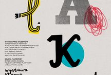 Typography / Typography design from posters, books, records, labels...