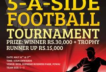 KC Cup -  5 - A - Side Football Tournament / Khiladi Connect is organizing a 5 - A - Side Football Tournament at Powai on the 16th and 17th of May 2015