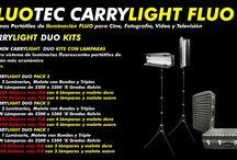 CARRYLIGHT FLUO FICHAS TECNICAS / FLUOTEC CARRYLIGHT FLUO Sistemas Portátiles de Iluminación FLUO para Cine, Fotografía, Video y Televisión