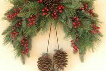 ghirlande e addobbi di Natale