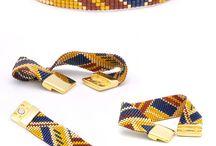 Miyuki cuff bracelet - bracelet manchette - Petit Bout de Chou