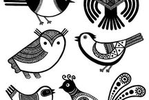 Стилизация птиц