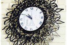 Toilet paper rolls: clock art