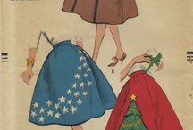 My Vintage Circle Skirt Sewing Patterns / From my personal collection ~ Vintage Sewing Patterns for Circle Skirts / by Valerie Seaholm