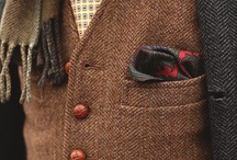 Tweed Jacket (mens style inspirations for wearing tweed) / Favorite looks for wearing and matching tweet menswear pieces. Tips on wearing tweed jackets, vests, neckties, and more. / by Bows-N-Ties | Inspiration for Men's Ties, Bow Ties, & Neckties