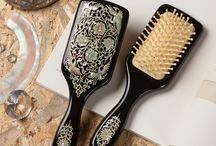 Mother of Pearl Inlay Hair Brush