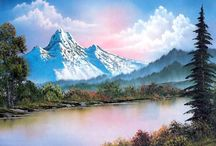 Bob Ross Style Paintings / Oil paintings done in the wet on wet technique taught by Bob Ross and his mentor and teacher William (Bill) Alexander.