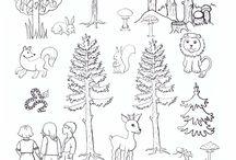 život v lese jeseň