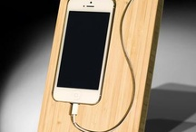Wooden phone holders