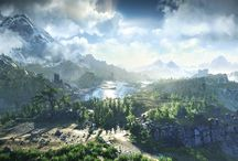 The Witcher landscapes / The Witcher screenshots and concept art