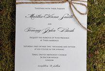 Wedding Invitations / by Tammy Kenagy