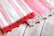 Tea Towels / Crochet Edges