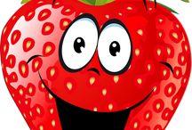 Весёлые Фрукты, ягоды и .др еда