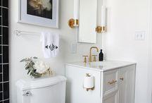Bathrooms- Modern Affordable / Ideas for DIY'ing a Industrial Vintage Modern Bathroom