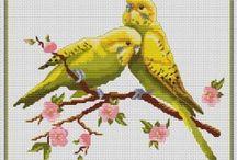 Vtáky vyšívané