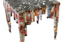 Tavolo di scatole di alluminio