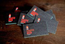 Qrious Lab.: Biz Card - black