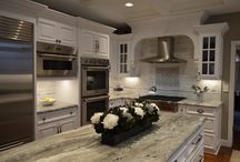 Beautiful White Kitchen / A kitchen gets a modern update with white and gray.