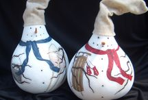 Doll and holiday gourds / by Michelle Weidner