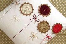 Cojines aplicaciones crochet