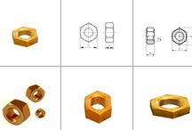 Brass Nuts / A nut is a type of fastener which has a threaded hole of various shapes. A nut is used in a bolt mechanism as a tool to tighten the entire assembly and to hold it in place. The two partners are kept together by a combination of their threads' friction, a slight stretch of the bolt, and compression of the parts. In applications where vibration or rotation may work a nut loose, various locking mechanisms may be employed.